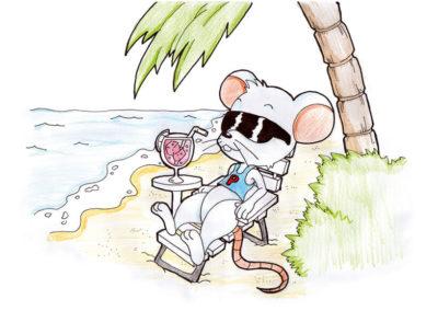 ratoncito Pérez descansando